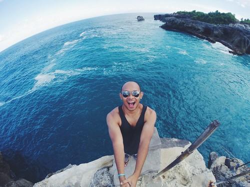 Selfie at BlueLagoon, Ceningan, Bali