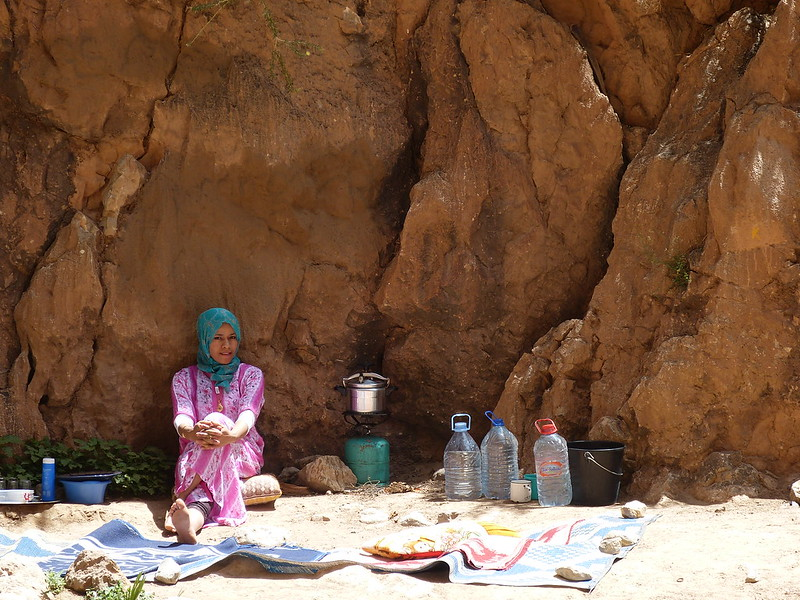 Camping at the Todra Gorge, Morocco