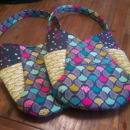 Yay for a new handbag! #twins #241tote #koifabric @iheartlinen