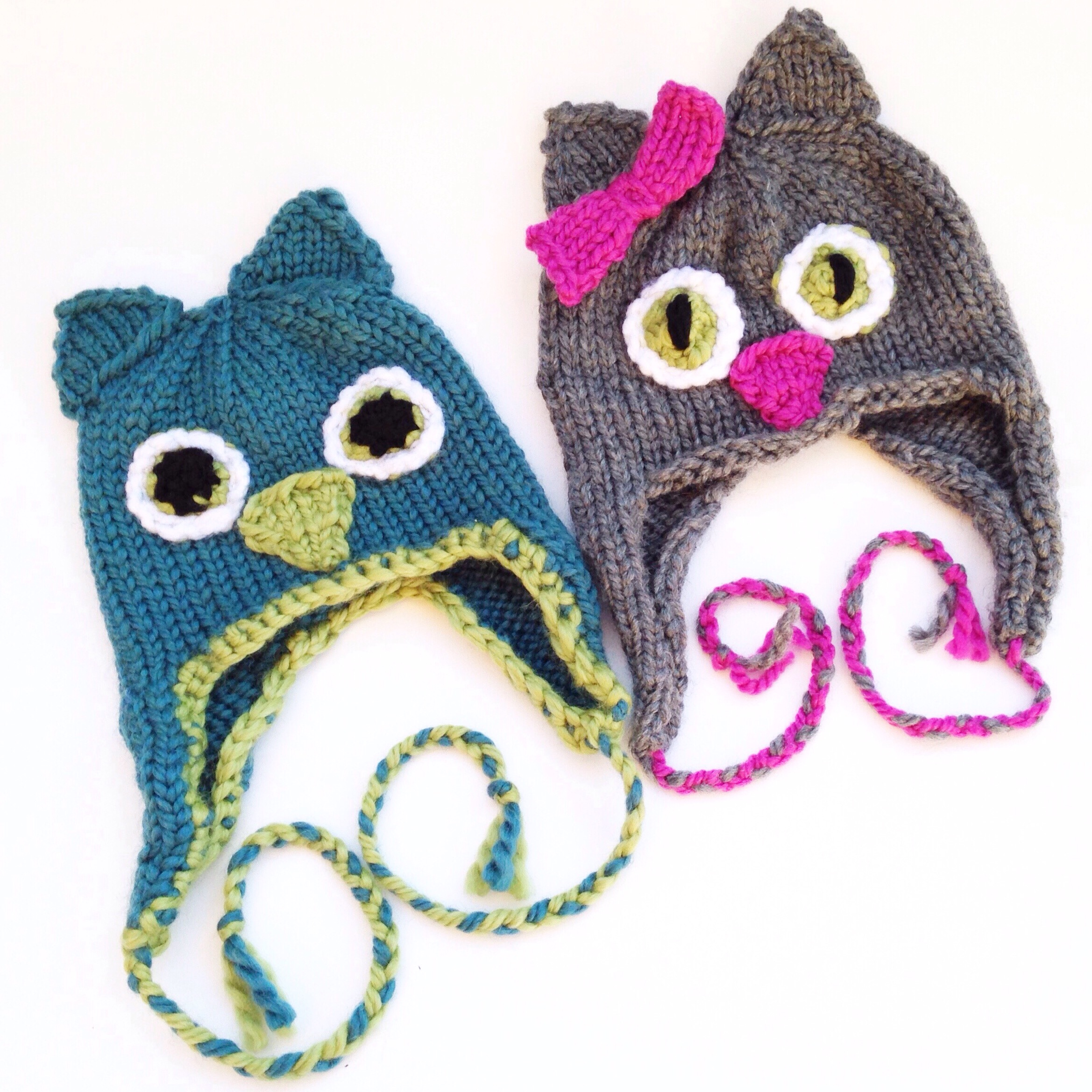 owl and pusscat hats