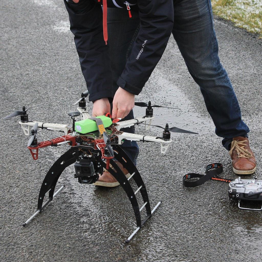 drone f550 avec sa go pro