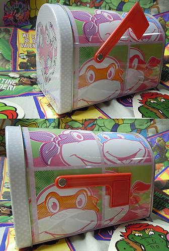 "TIN BOX Co. :: ""TEENAGE MUTANT NINJA TURTLES"" Retro Style Mailbox Tin iv (( 2015 ))"