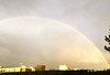 Rainbow over Poplar, London -- Friday 13 Feb