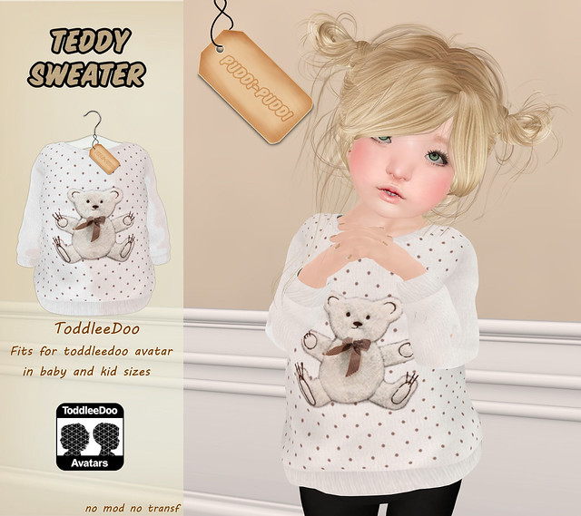 ::Puddi-Puddi:: ToddleeDoo Teddy Sweater