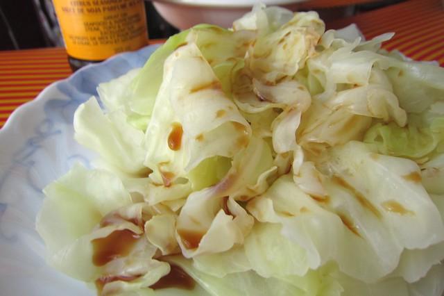 煮高麗菜淋橘醋 1502