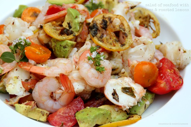 Salad of Seafood with Tomatoes & Roasted Lemons 2