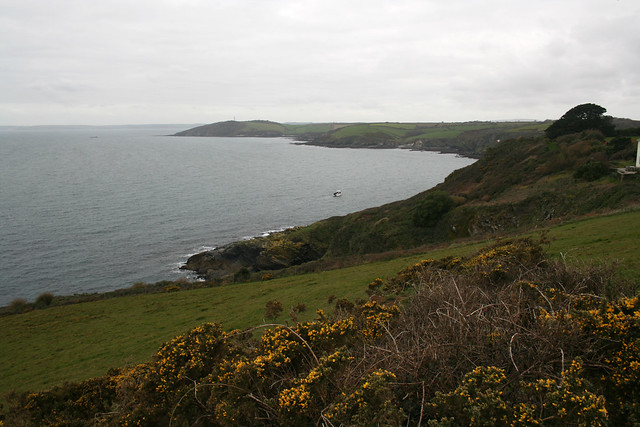 View west to Polruan from the South West Coast Path