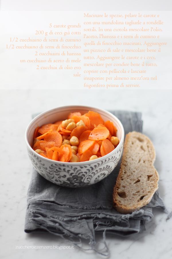 Insalata di carote e ceci alla marocchina
