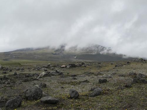 Le Parc National Cotopaxi: le volcan Cotopaxi dan le brouillard