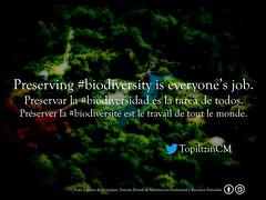 Preserving #Biodiversity is everyone's job = Preservar la #Biodiversidad es la tarea de todos @TopiltzinCM
