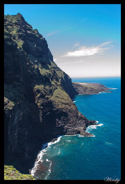 Punta de Teno lugar más occidental Tenerife - Acantilados en Parque rural de Teno