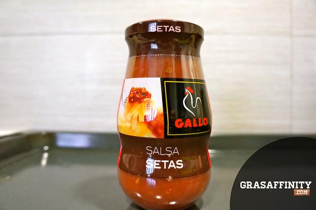 Receta de pizza casera italiana: salsa de setas