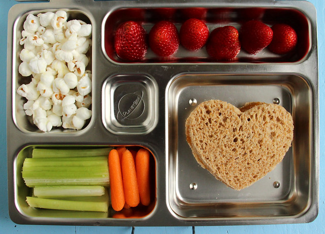 Preschool Heart and Popcorn Bento #441