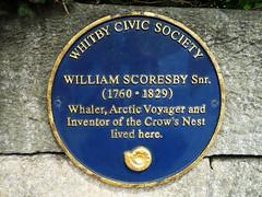Photo of William Scoresby Snr blue plaque
