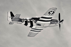 aviation, airplane, propeller driven aircraft, wing, vehicle, north american p-51 mustang, fighter aircraft, propeller,