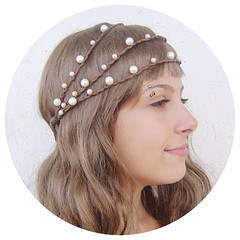 Hippie Wedding Pearl Headband