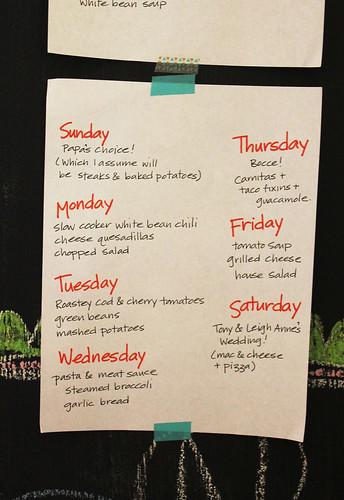2 weeks of meal planning