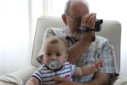 Grandpa Butch Multitasking