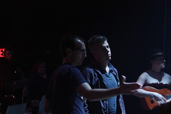 Fri, 2013-06-14 06:17 - Lighting Designer and Company Member Ben Wilhelm works with Director Nathan Allen