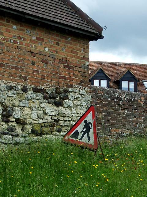 brick walls at Brill