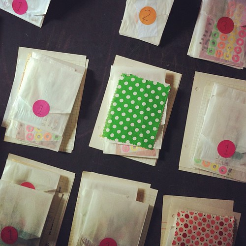 as I'm packing up kits for my workshop, I realize I may have an unintended polka dot theme. I'm going with it. #paintedpagesworkshop