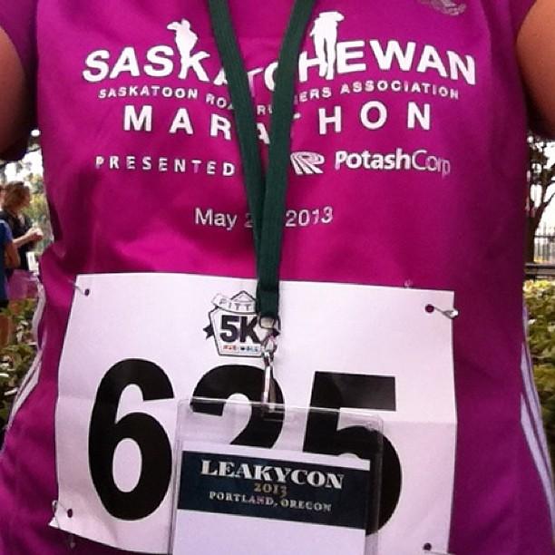 Represented Saskatchewan at the Fittie 5k. #LeakyCon