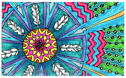 """Feather Mandala"" ICAD : 6-20-13"