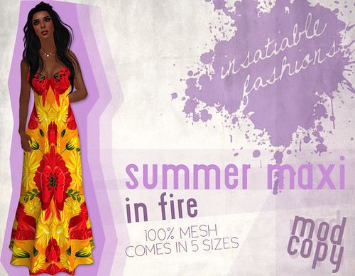 [IF] Summer Break Festival Item: Summer Maxi in Fire