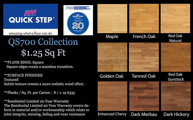 quickstep 700 series template filled