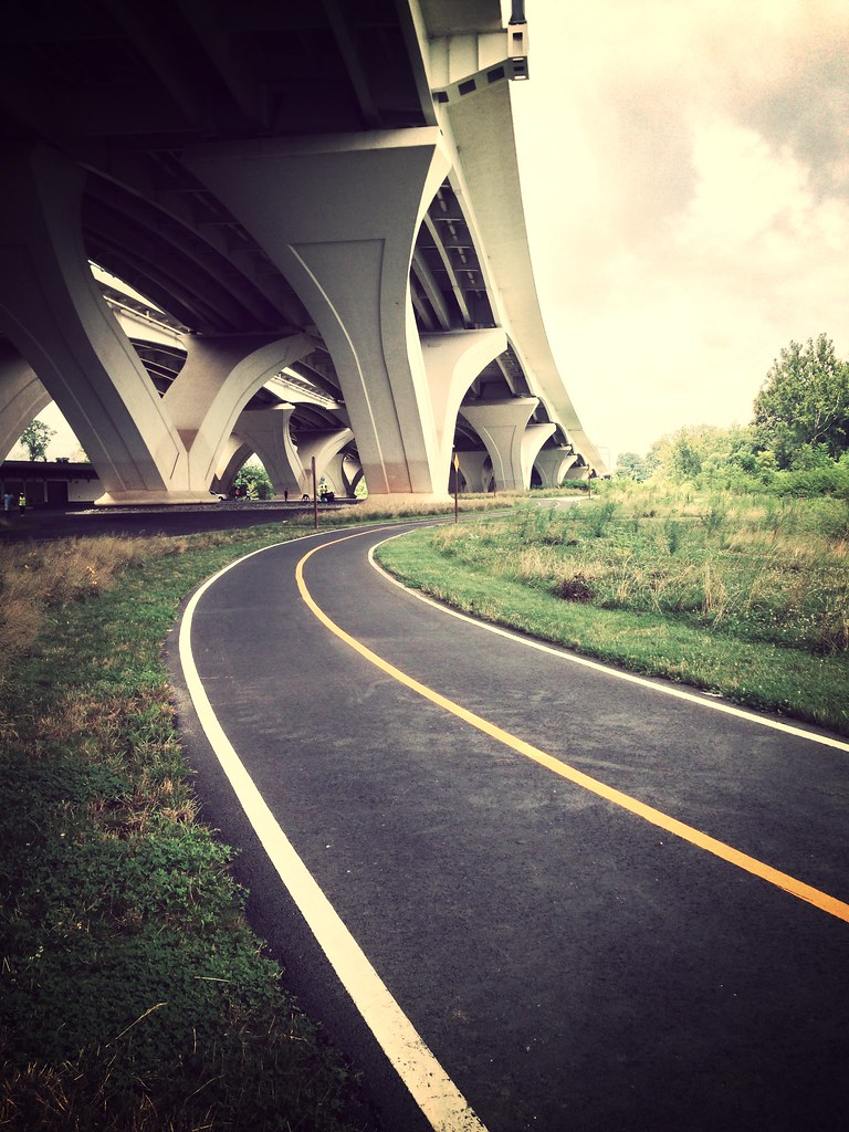 Bike trail under the Wilson Bridge #bikedc