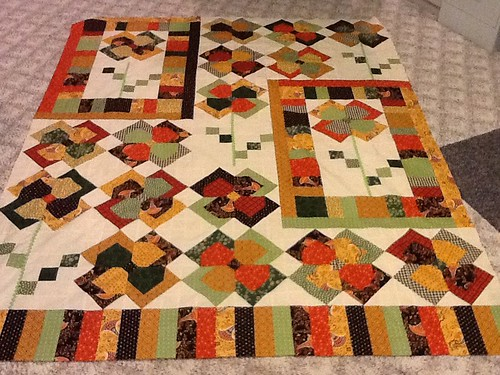 Flower Patch Quilt completed!