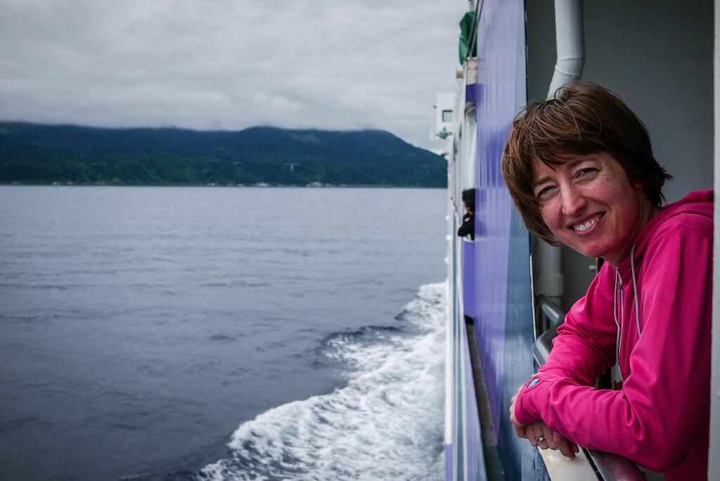 Ferry from Wakkanai to Rishiri Island, Hokkaido, Japan