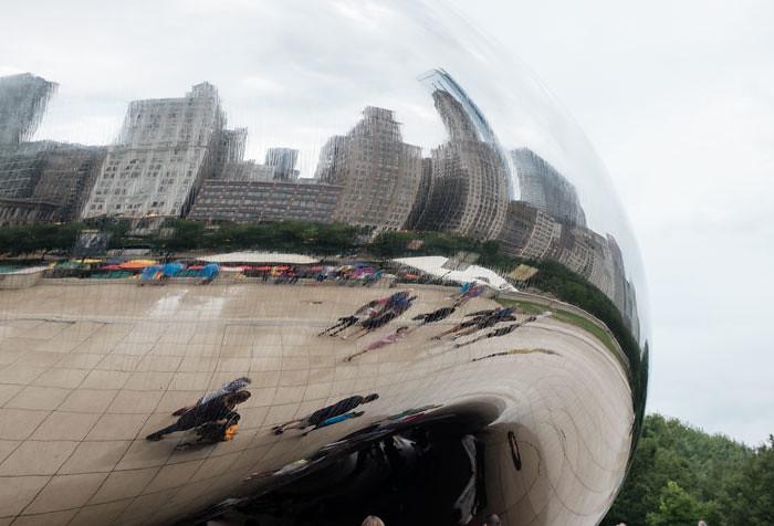 chicago millenium park, cloud gate, bean