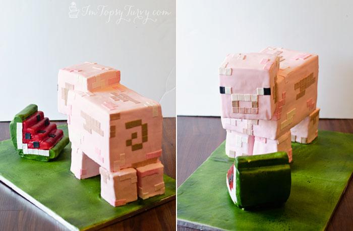 Minecraft Pig Cake Images : Minecraft Birthday Cake Tutorial Ashlee Marie