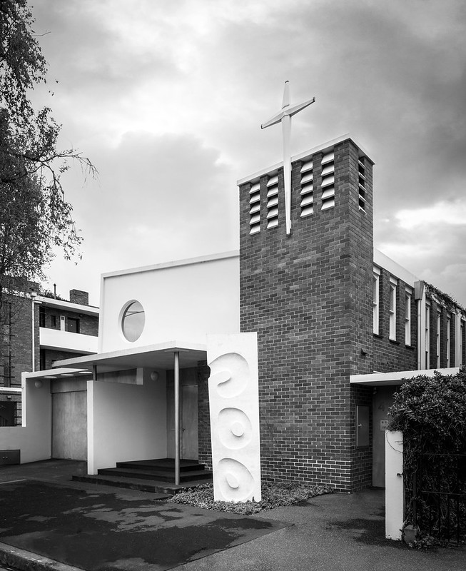 Mid-century modern church