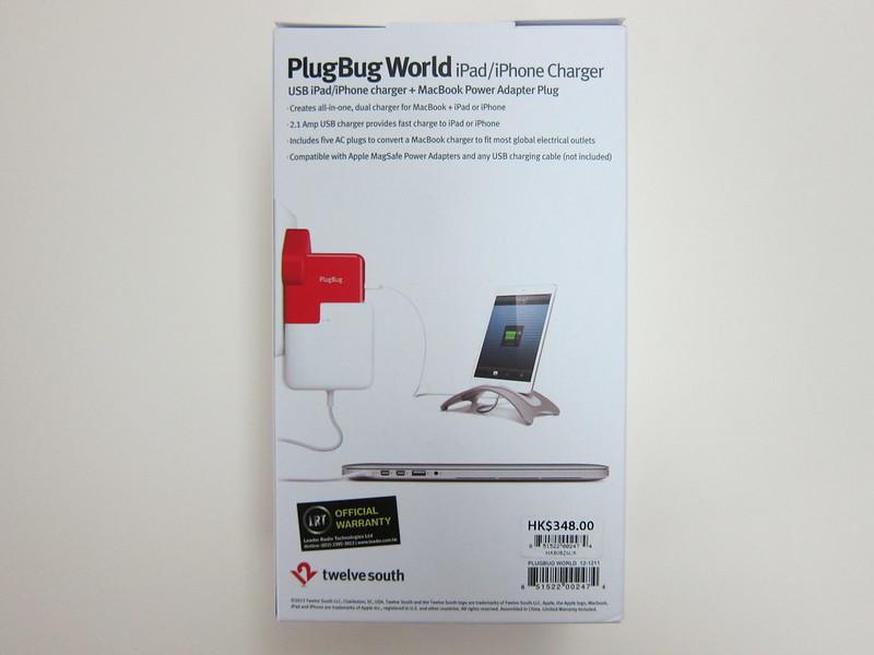 Twelve South PlugBug World - Box Back