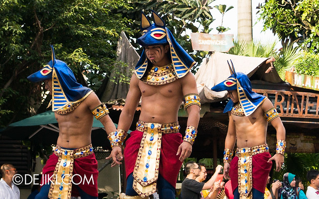 Universal Studios Singapore - Hollywood Dreams Parade - Ancient Egypt - Anubian Warriors