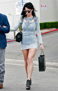 Katy Perry Denim Dress Celebrity Style Women's Fashion