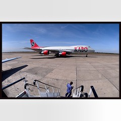 (THROWBACK THURSDAY):  KANO, NIGERIA.  A Kabo Air Boeing 747 aircraft parked at Mallam Aminu Kano International Airport in Kano, Nigeria on Friday, December 7, 2012.  © Chet Gordon/THE IMAGE WORKS  #nigeria #africa #westafrica #kano #boeing747 #photojour