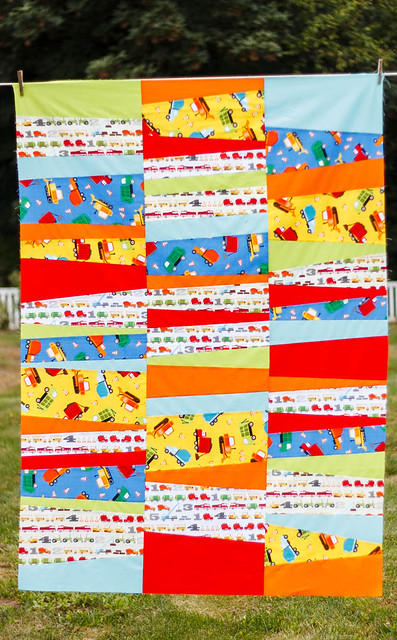 Crazy Strips Quilt - Trucks & Tractors Edition