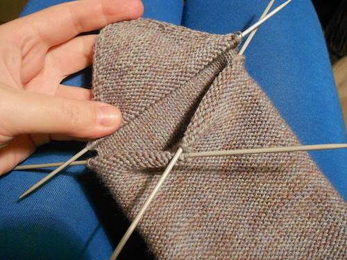 носок наизнанку до сшивания