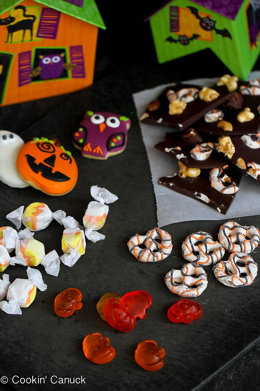 Moose Munch Chocolate Bark with Chocolate Pretzels {Harry & David} | Cookin' Canuck #Halloween