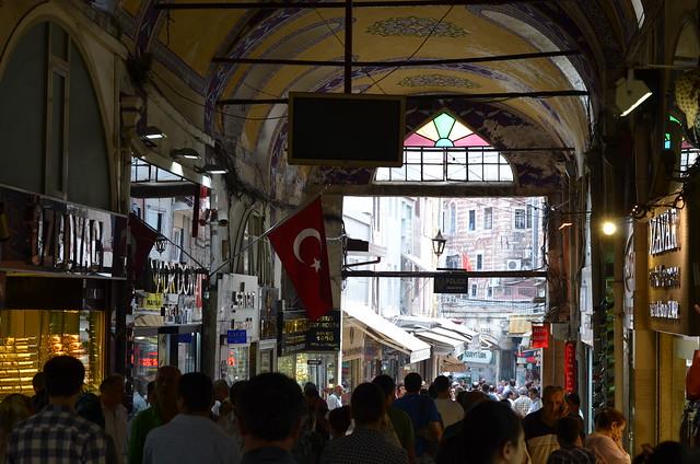 Interior del gran bazar de Turquía
