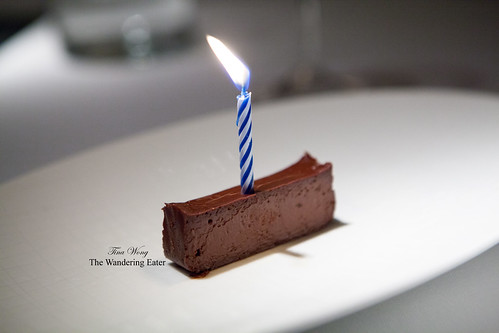 Birthday dessert for my friend - a super rich chocolate, Boca Negra