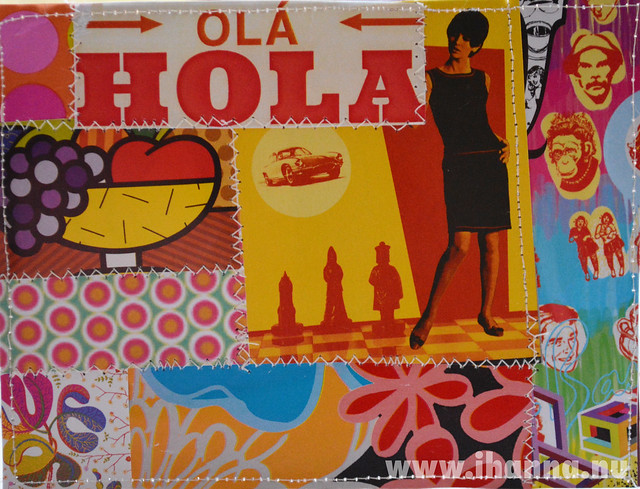 DIY Postcard Pop Art Collage - Hola Baby