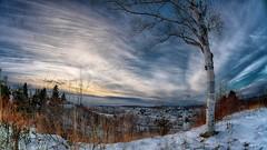 Paysage du Saguenay en Hiver
