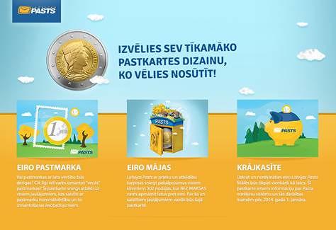 Īpašas pastkartes ar noderīgu informāciju par eiro
