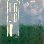 Number 5 - Victoria Eubanks, Yard Birds, encaustic, starting bid $80