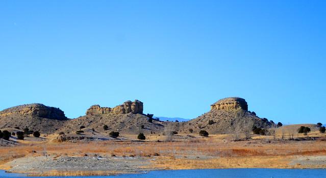 Establishing Shot: View from Pueblo Reservoir South Marina - December 2013