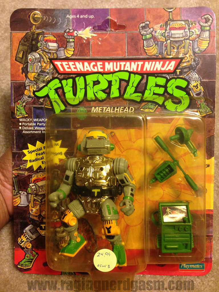 Vintage TMNT Teenage Mutant Ninja Turtle Carded Metalhead
